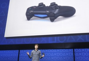 PlayStation 4's lead system architect Mark Cerny speaks during the unveiling of the PlayStation 4 launch event in New York